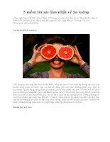 5 niềm tin sai lầm nhất về ăn kiêng pps