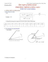 Công thức lượng giác, phương trình lượng giác luyện thi đại học