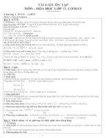 Tổng hợp Lý thuyết và Bài tập luyện thi Tốt nghiệp