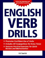 English verb drills by Ed Swick
