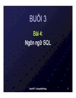bài giảng cơ sở dữ liệu bài 4: ngôn ngữ SQL - gv. dương khai phong