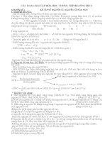 Các dạng BT bồi dưỡng HSG hóa 8