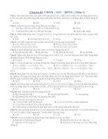 TN CRÔM-SẮT-ĐỒNG(P1) CÓ ĐÁP ÁN