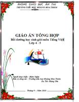 Tài liệu bồi dưỡng học sinh giỏi môn Tiếng Việt lớp 4 - 5 toàn tập cực hay