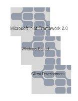 Tài liệu lập trình C# nâng cao: Microsoft .Net Framework 2.0 pptx