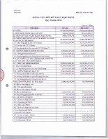 vpbank hợp nhất  bảng cân đối kế toán hợp nhất quý 2 2012
