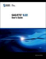 SAS/ETS 9.22 User''''s Guide 1 ppt