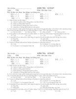KT 15 PHÚT 11NC-HAY-có đáp án