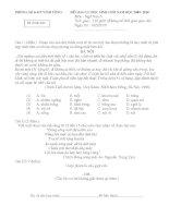 Đề thi giao lưu HSG- Ngữ Văn 6