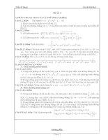 Đề thi thử đại học - Môn Toán - Có đáp án