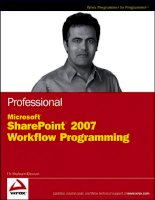 Professional Microsoft SharePoint 2007 Workflow Programming ppsx