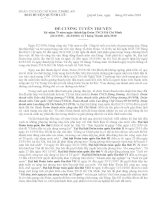 Bài tuyên truyền kỷ niệm 79 năm ngày thành lập Đoàn TNCS Hồ Chí Minh