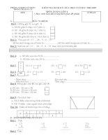 Đề và đáp án KTĐK giũa HKII Toán1,2,3,4,5