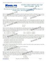 ltđh sinh học - tuyển chọn những bài tập hay và khó -  đề 10