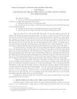 Chương II - Tạo dựng giá trị, sự thỏa mãn và lòng trung thành của khách ppt