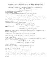 công thức hệ thống sinh học 12