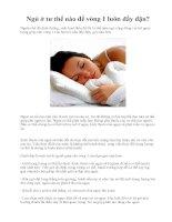 Ngủ ở tư thế nào để vòng 1 luôn đầy đặn? pdf