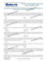 ltđh sinh học - tuyển chọn những bài tập hay và khó -  đề 2