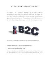 làm gì để thành công với b2c