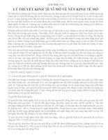 CHƯƠNG VII: LÝ THUYẾT KINH TẾ VĨ MÔ VỀ NỀN KINH TẾ MỞ ppsx