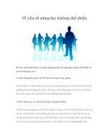 15 yếu tố năng lực không thể thiếu pps