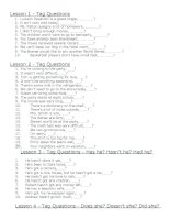 Bài tập về TAG QUESTION