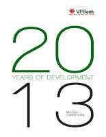 báo cáo thường niên 2013 ngân hàng việt nam thịnh vượng vpbank 20 years of development 2013