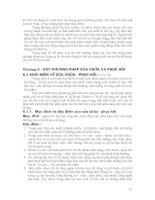 Chương 6: Các phương pháp sửa chữa và phục hồi pot