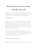 Bí quyết đánh tan stress trong tuần làm việc mới ppt