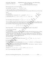 Đề Thi Thử ĐH Môn TOÁN khối D - THPT Hậu Lộc 4 - Thanh Hóa [2009 - 2010] pot