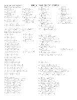 Chuyên đề phương trình Toán 9