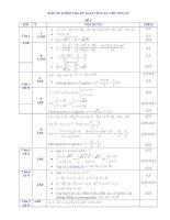 Đáp án Kiểm Tra 45'''' số phức  2010 (đề 1)