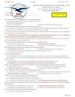 đề thi thử đại học môn sinh học 2014 chuyên nguyễn khuyến 2