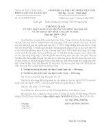 Thông báo phát hành tài liệu ôn thi tuyển sinh vào lớp 10