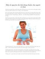 Một số nguyên tắc khi dùng thuốc cho người có thai pptx