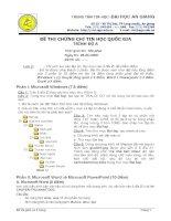 Đề thi chứng chỉ tin học quốc gia trình độ A năm 2008 pot