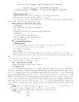 Giáo án NGLL7-chủ điểm tháng 3