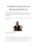 8 lời khuyên hữu ích cho một mức lương khởi đầu cao ppsx