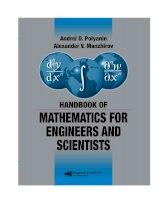Handbook of mathematics for engineers and scienteists part 1 ppsx