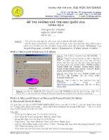 Đề thi chứng chỉ tin học quốc gia trình độ A năm 2008 pdf