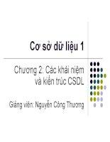 Chương 2: Các khái niệm và kiến trúc CSDL pptx