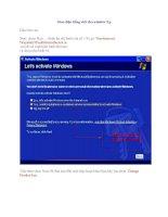 Hướng dẫn sử dụng cài đặt gói giao diện tiếng việt cho Win XP ppt