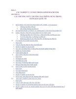 giáo trình nghiệp vụ ngoại thương -  chương 4   các phương thức thương mại thông dụng