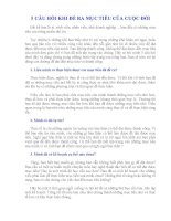 5 câu hỏi khi đề ra mục tiêu của cuộc đời