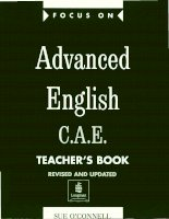 Focus on advanced english C.A.E teacher''''s book 1 ppsx