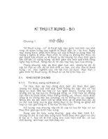 KĨ THUẬT XUNG - SỐ, Chương 1 pptx