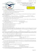 đề thi thử đại học môn sinh học 2014 nguyễn khuyến lần 6