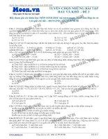 ltđh sinh học - tuyển chọn những bài tập hay và khó -  đề 3