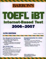 Toefl ibt internet based test 2006 - 2007 part docx
