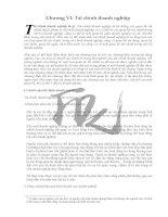 Đề cương bài giảng môn Lý thuyết tài chính Chương 6 pdf